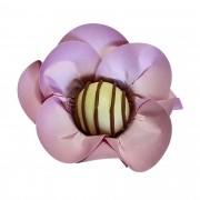 Forminha para Doces Mini Margarida em Papel Especial Rosa Seco Kit 40 Unidades