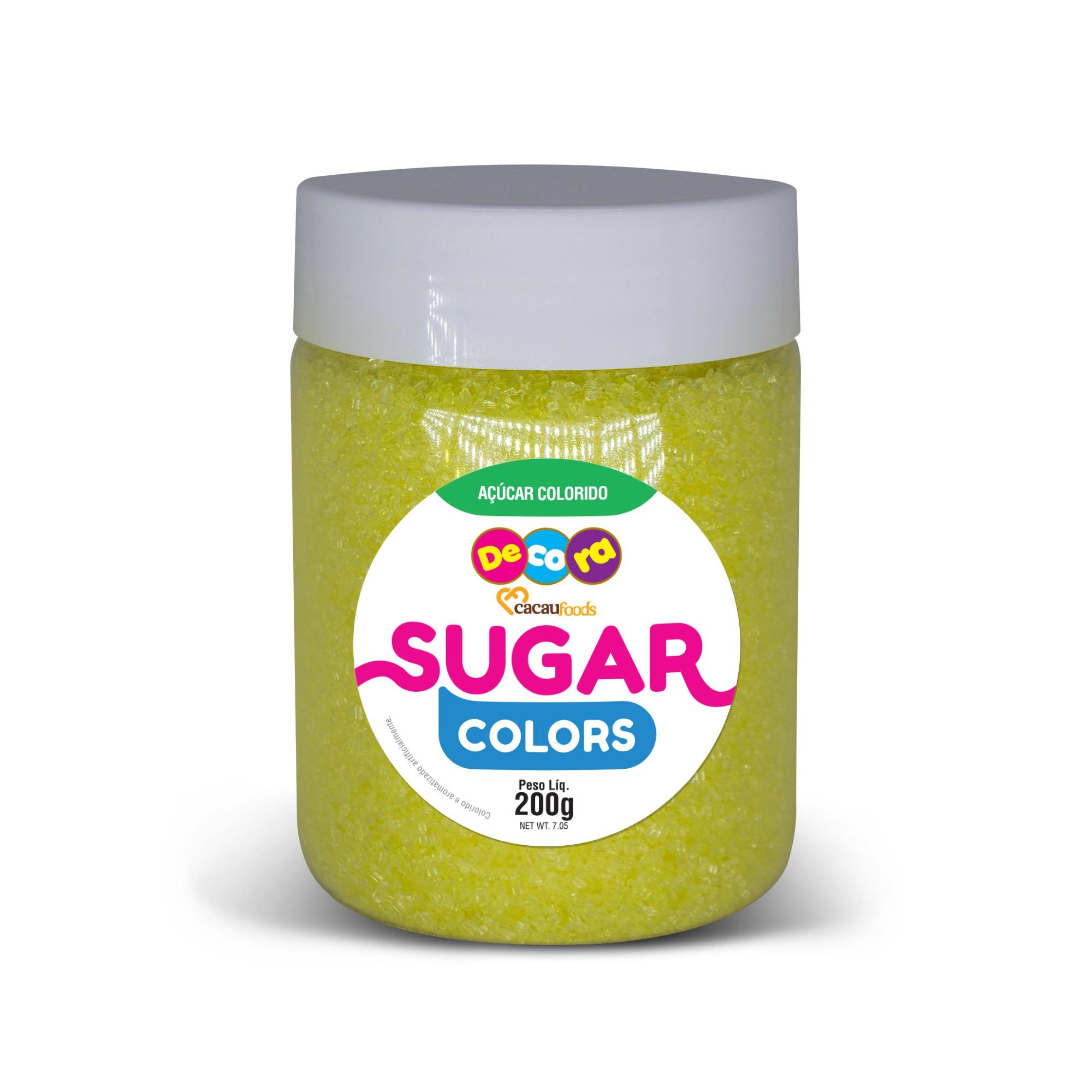 Açúcar Colorido Sugar Colors Amarelo 200g