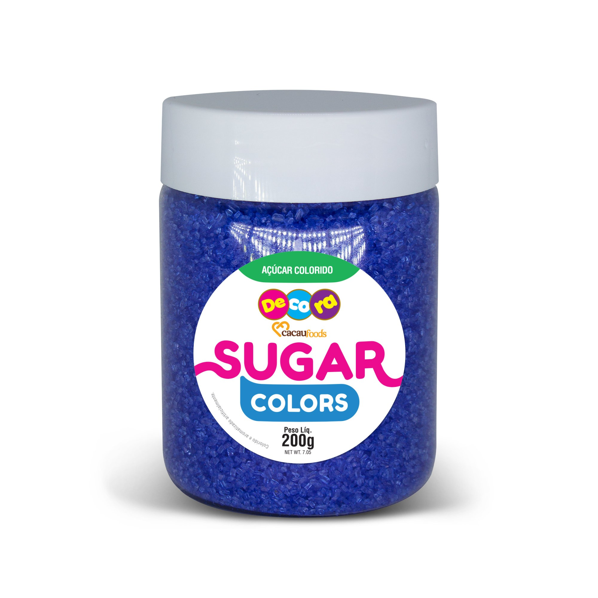 Açúcar Colorido Sugar Colors Azul Royal 200g