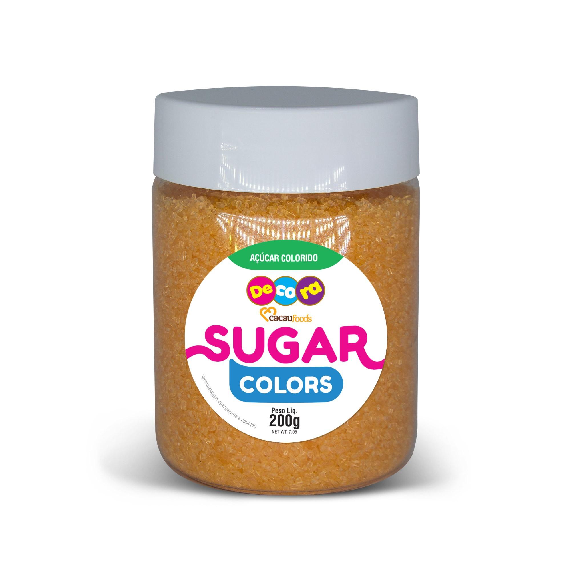 Açúcar Colorido Sugar Colors Laranja 200g