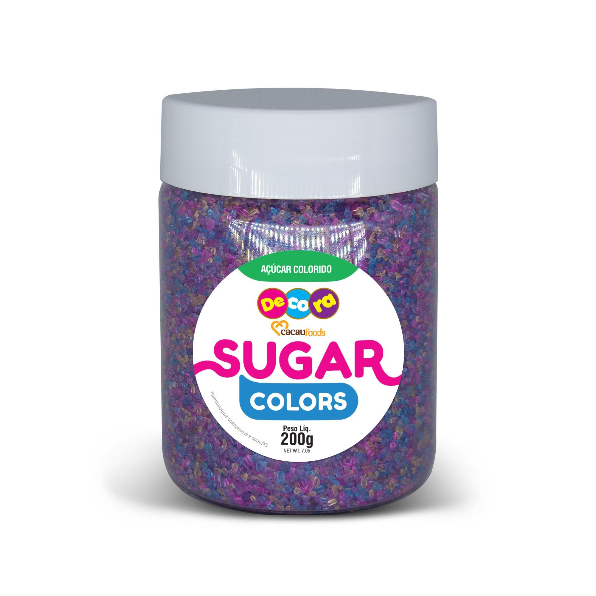 Açúcar Colorido Sugar Colors Lilás 200g