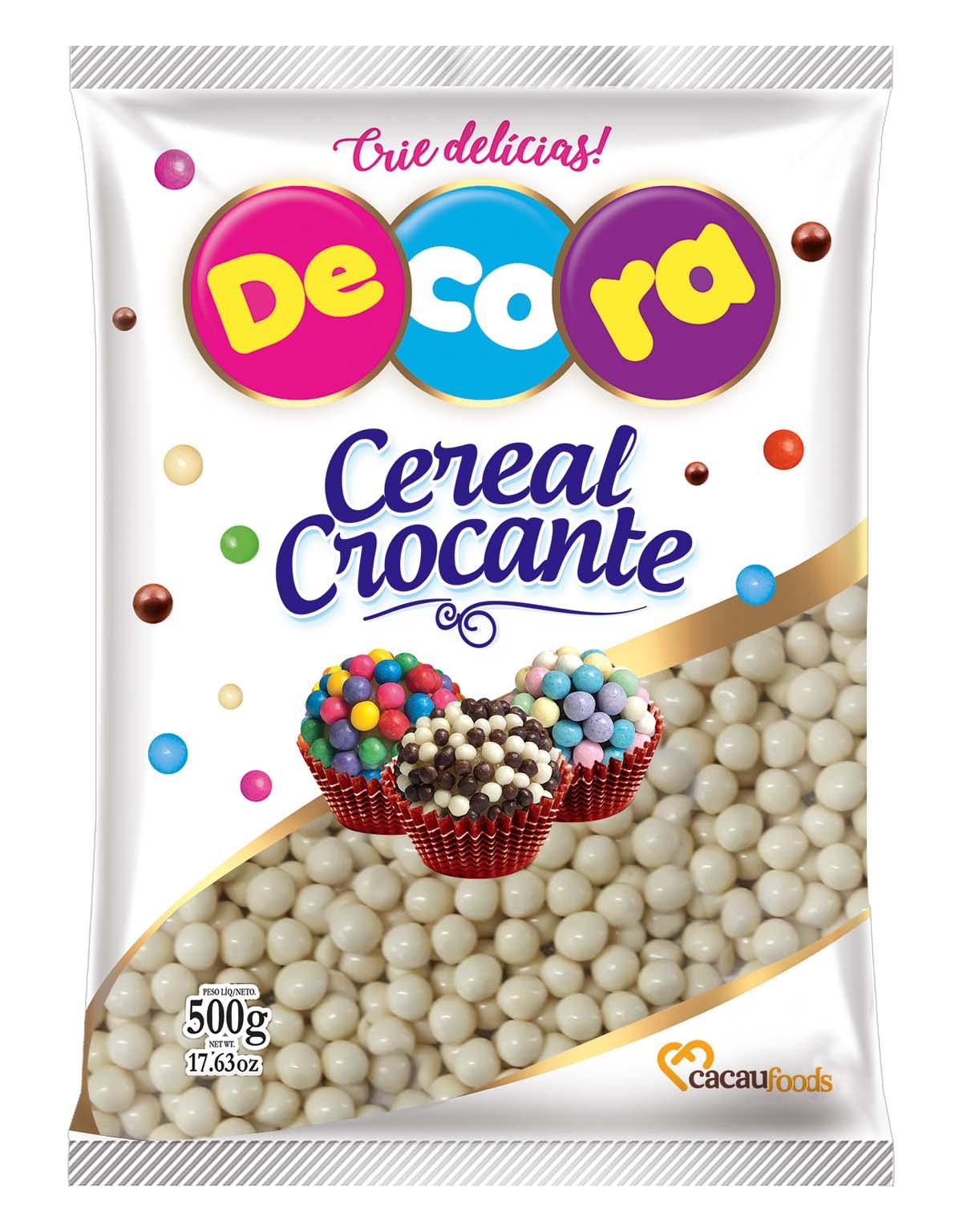 Big Cereal Crocante Decora Sabor Chocolate Branco 500G
