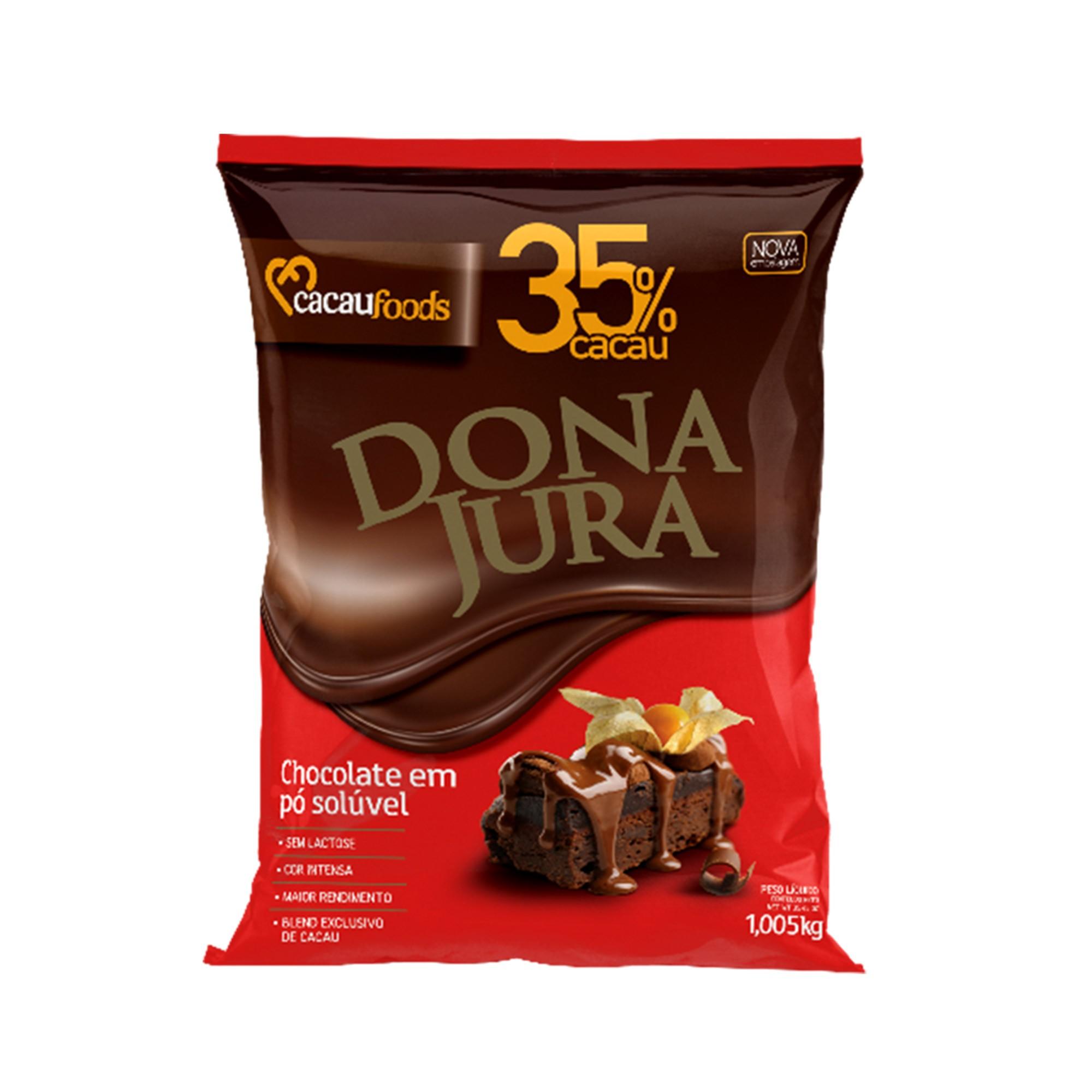 Chocolate Em Pó Solúvel 35% Cacau Dona Jura 1005Kg