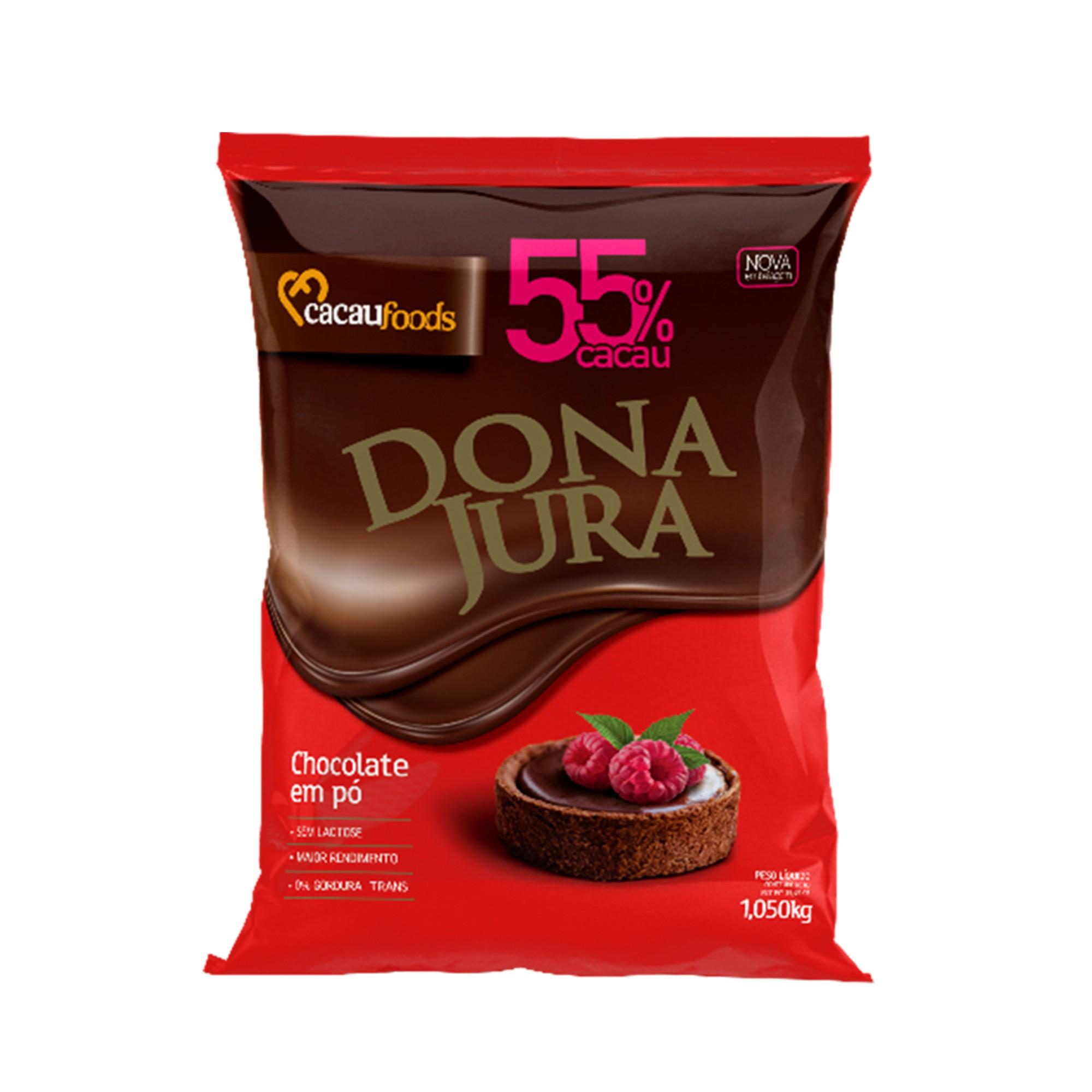 Chocolate Em Pó Solúvel 55% Cacau Dona Jura 1005Kg