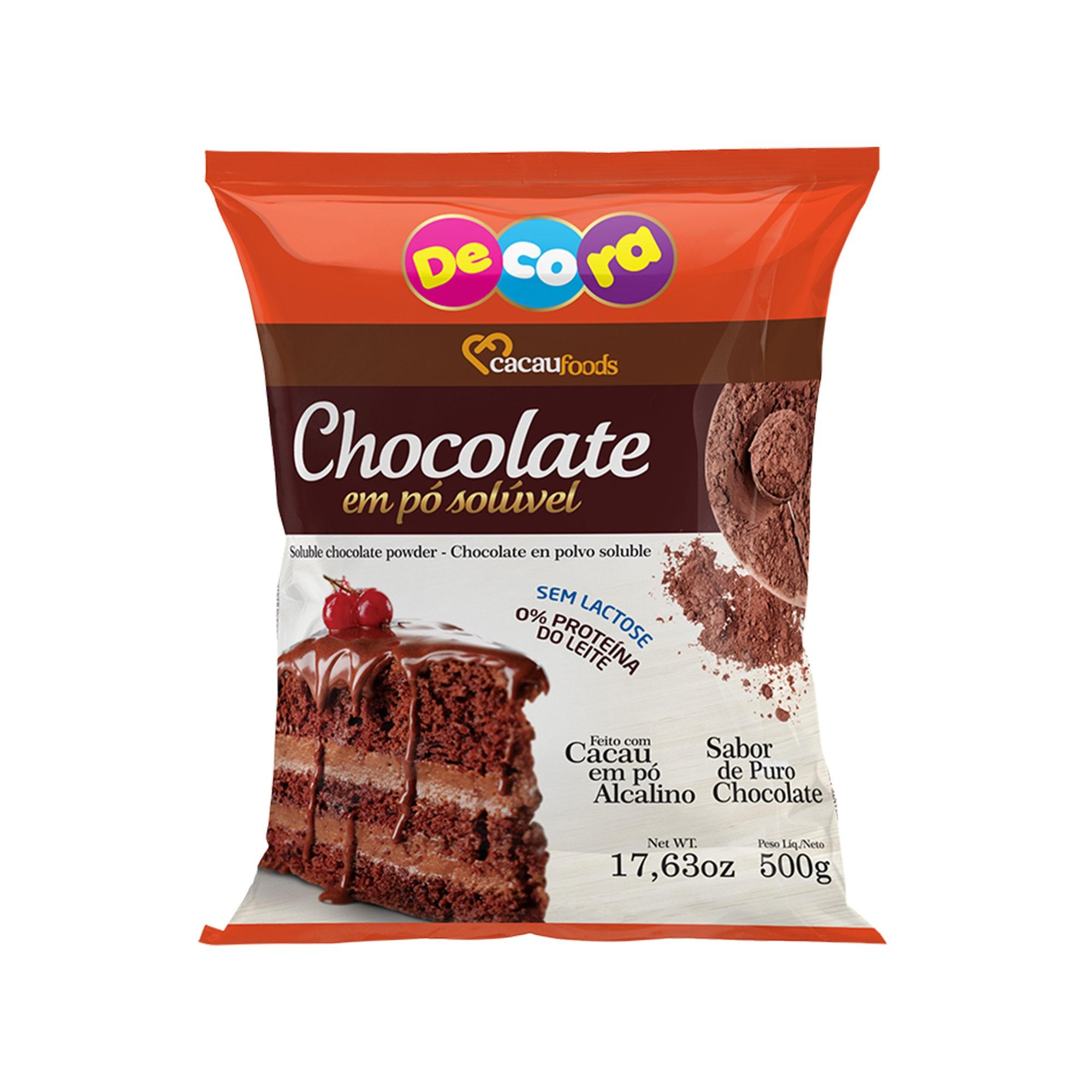 Chocolate Em Pó Solúvel Decora 500g