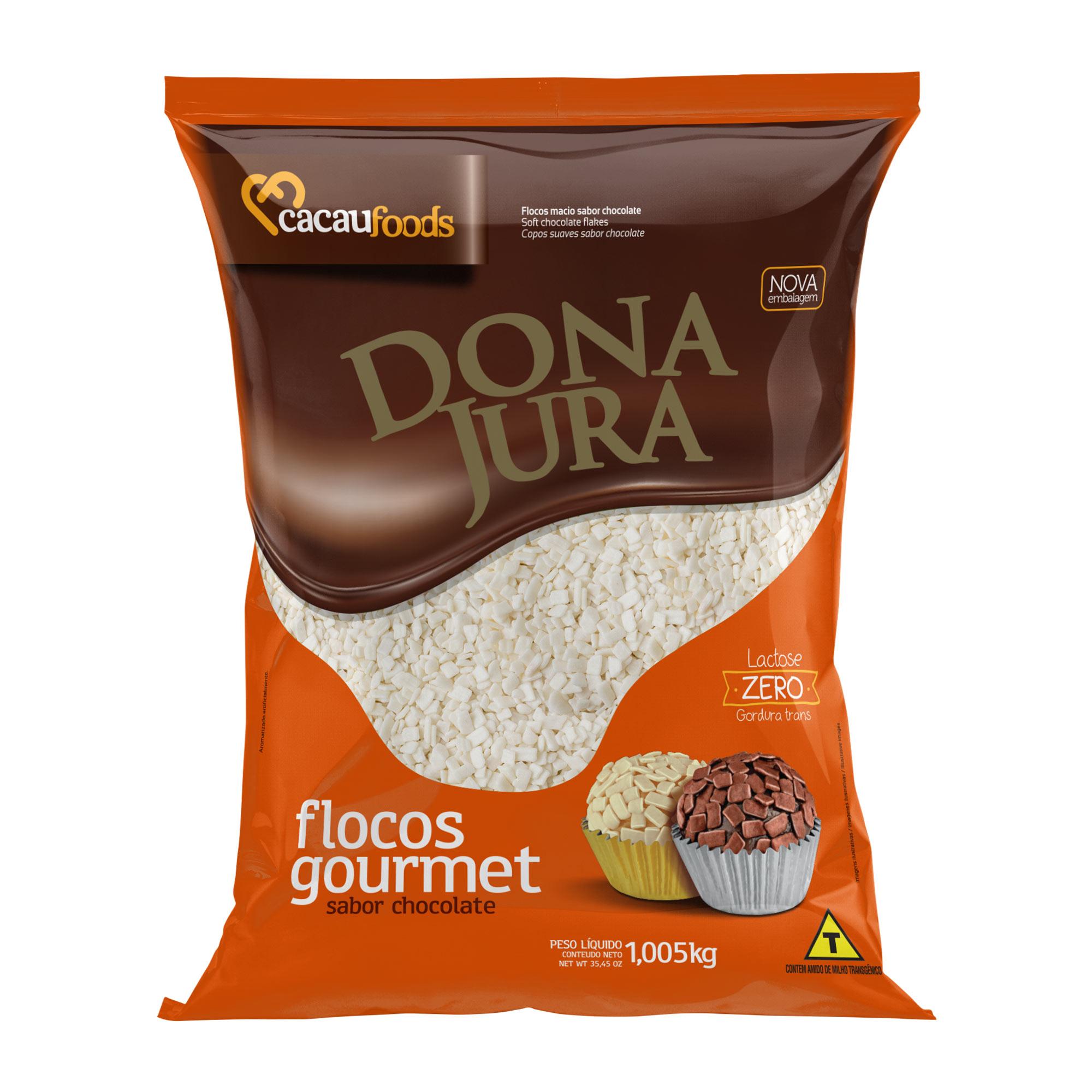 Flocos Sabor Chocolate Branco Macio Dona Jura 1,005kg