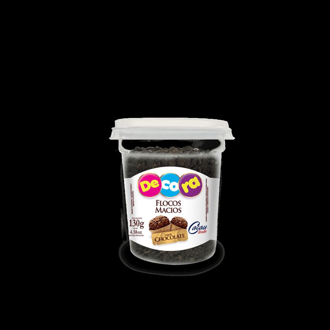 Flocos Sabor Chocolate Macio Decora Copo 130G