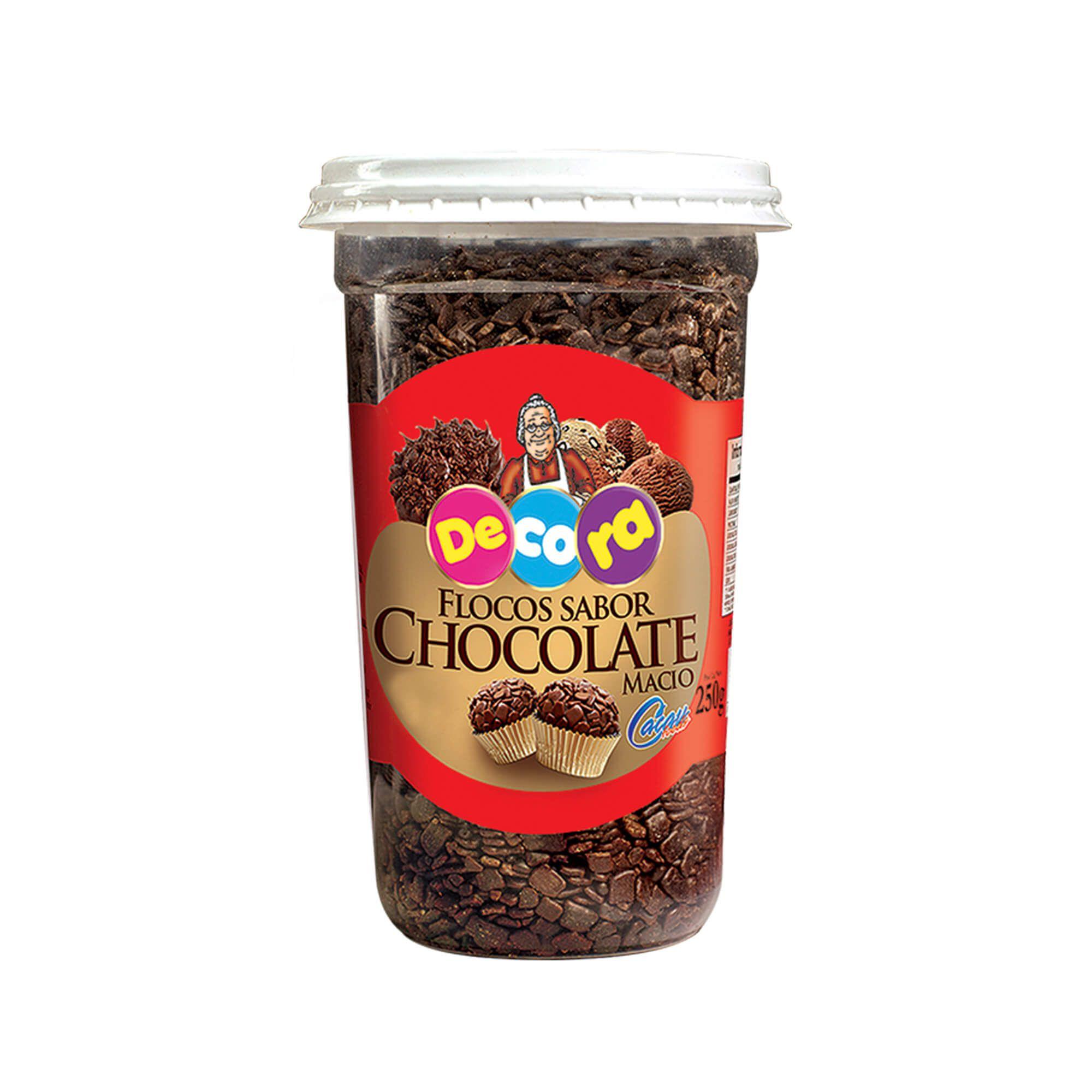 Flocos Sabor Chocolate Macio Decora Copo 250G