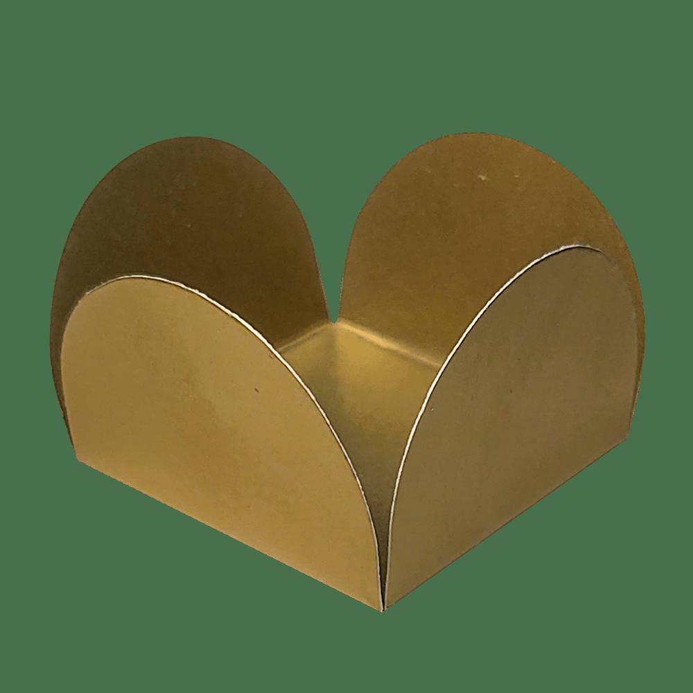 Forminha para Doces Caixinhas em Papel Especial Dourado Kit 50 Unidades