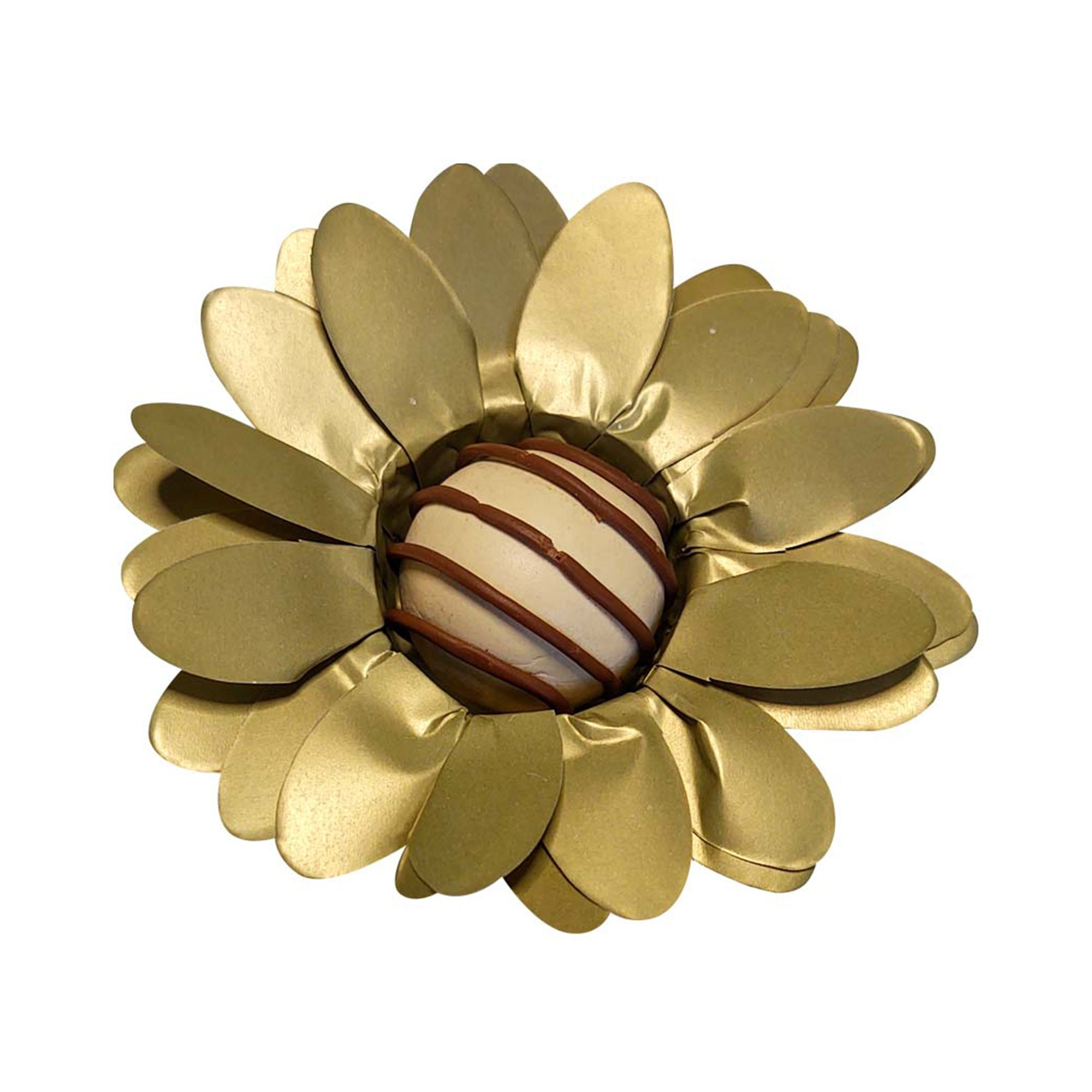 Forminha para Doces Finos Peônia em Papel Especial Dourado Kit 40 Unidades