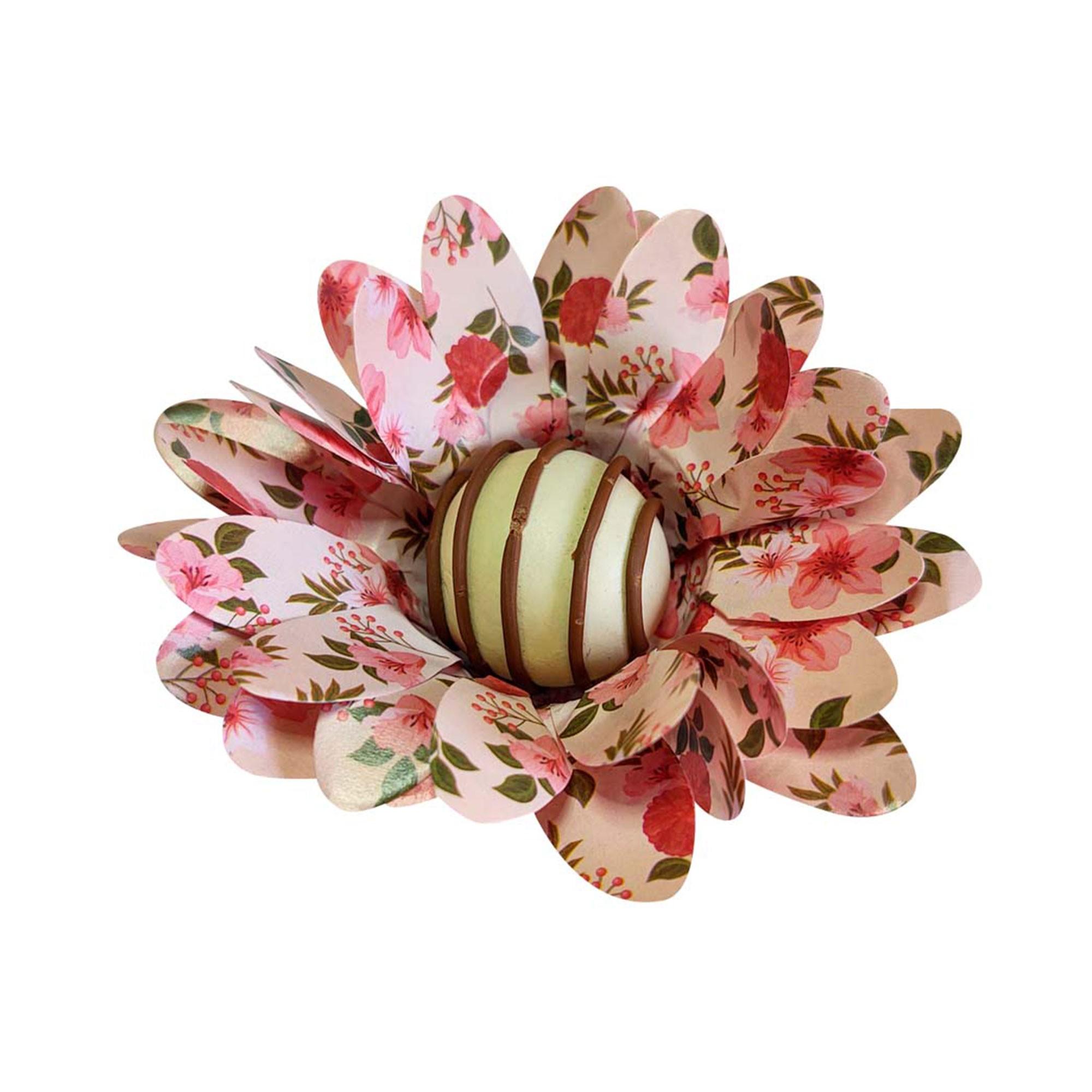 Forminha para Doces Finos Peônia em Papel Especial Floral Nude Kit 40 Unidades