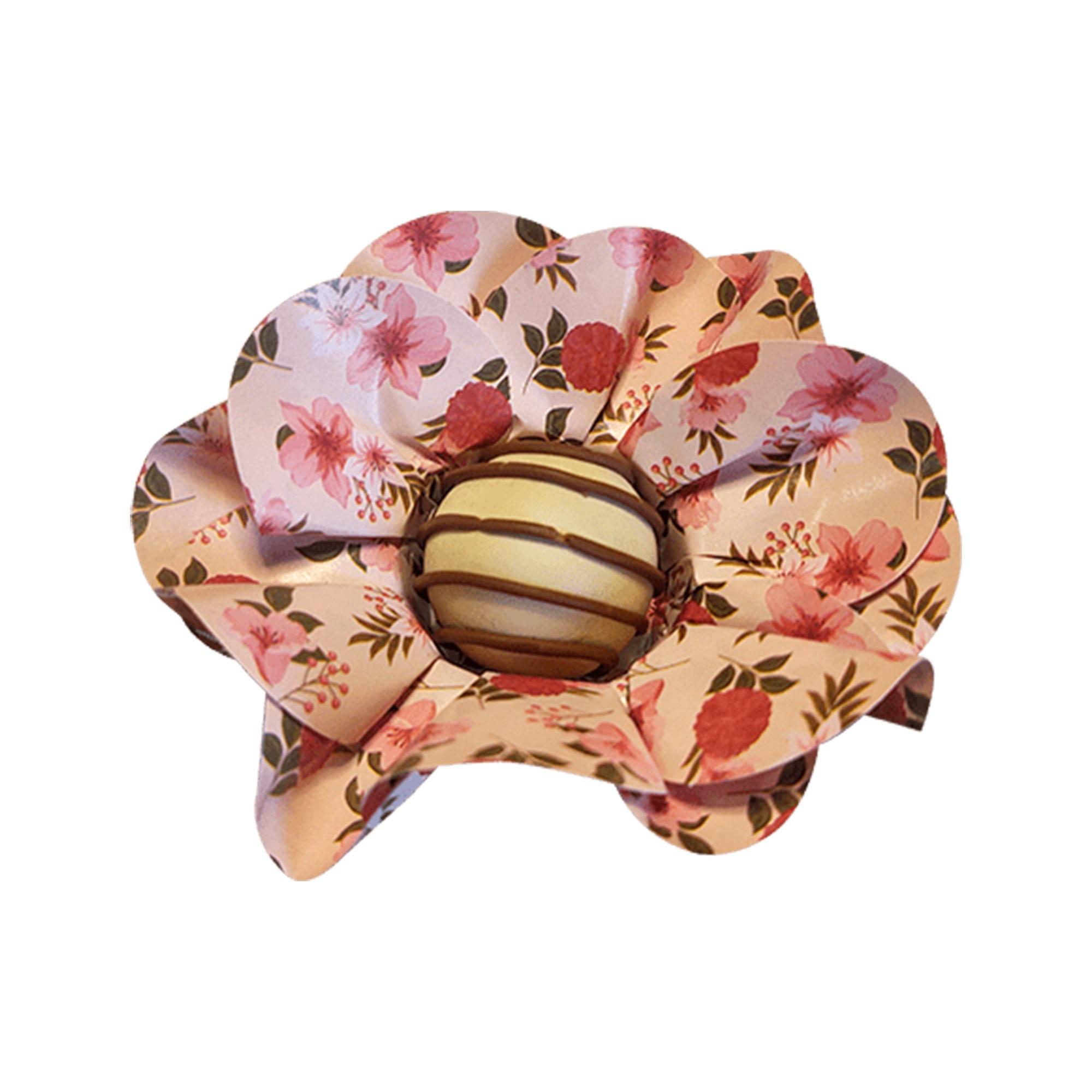 Forminha para Doces Margarida em Papel Especial Floral Nude Kit 40 Unidades