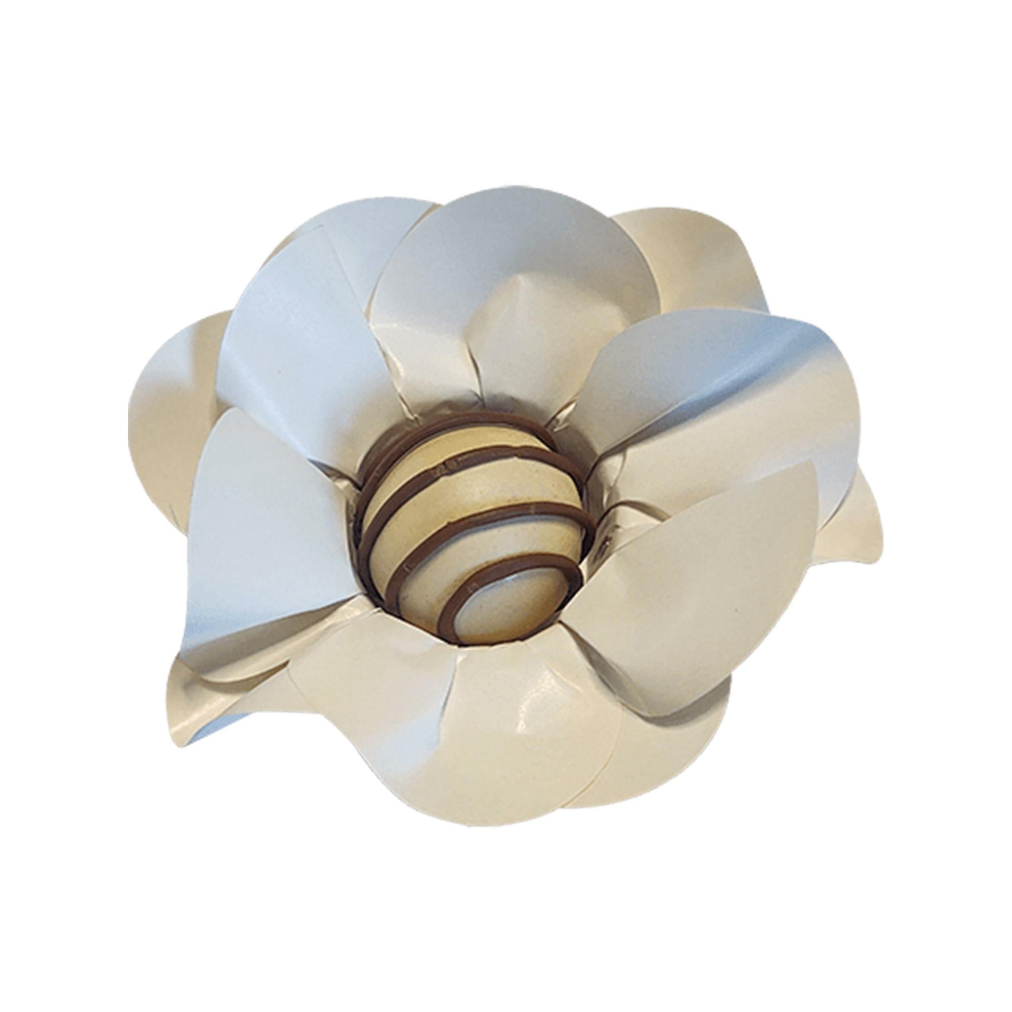 Forminha para Doces Margarida em Papel Especial Off White Kit 40 Unidades