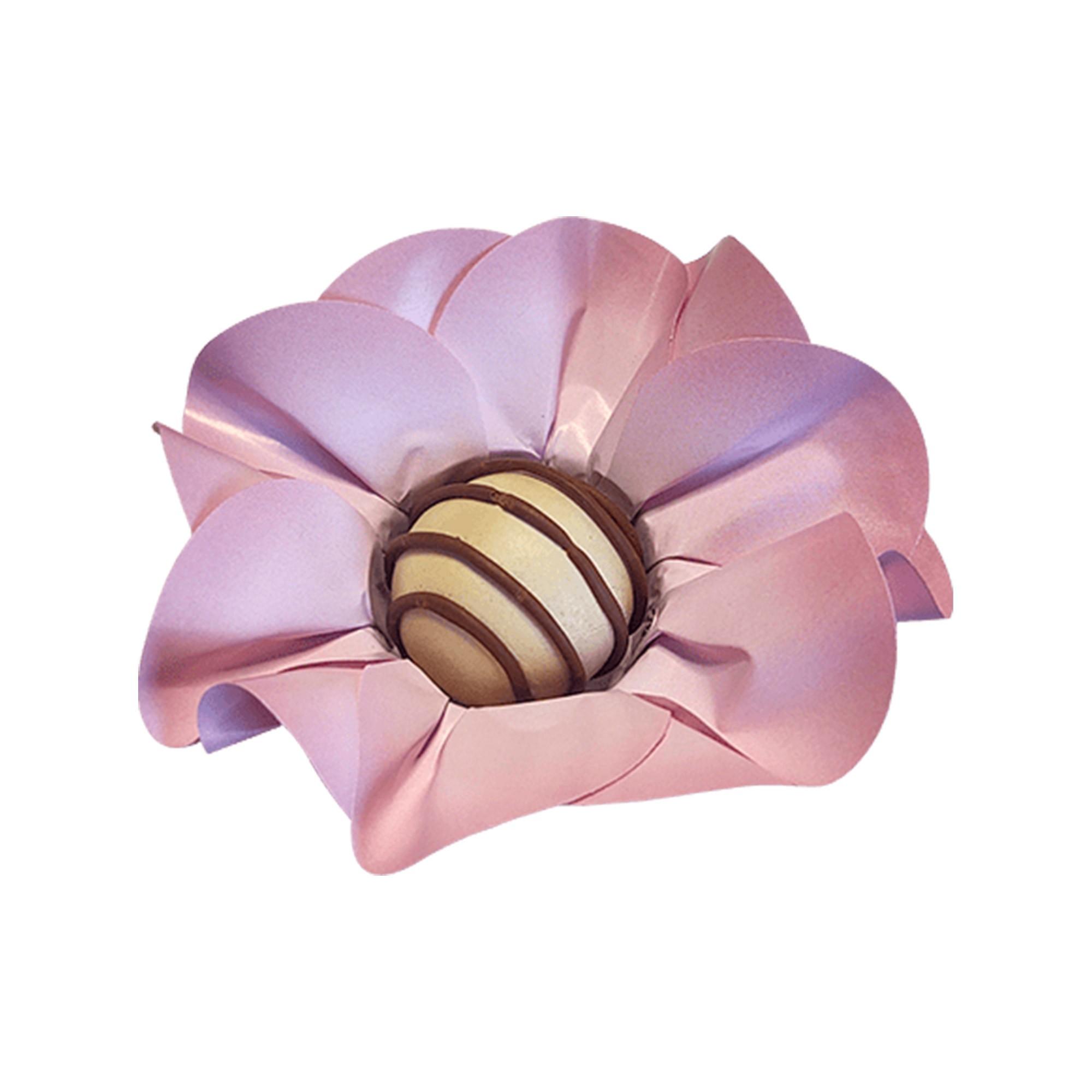 Forminha para Doces Margarida em Papel Especial Rosa Bebê Kit 40 Unidades