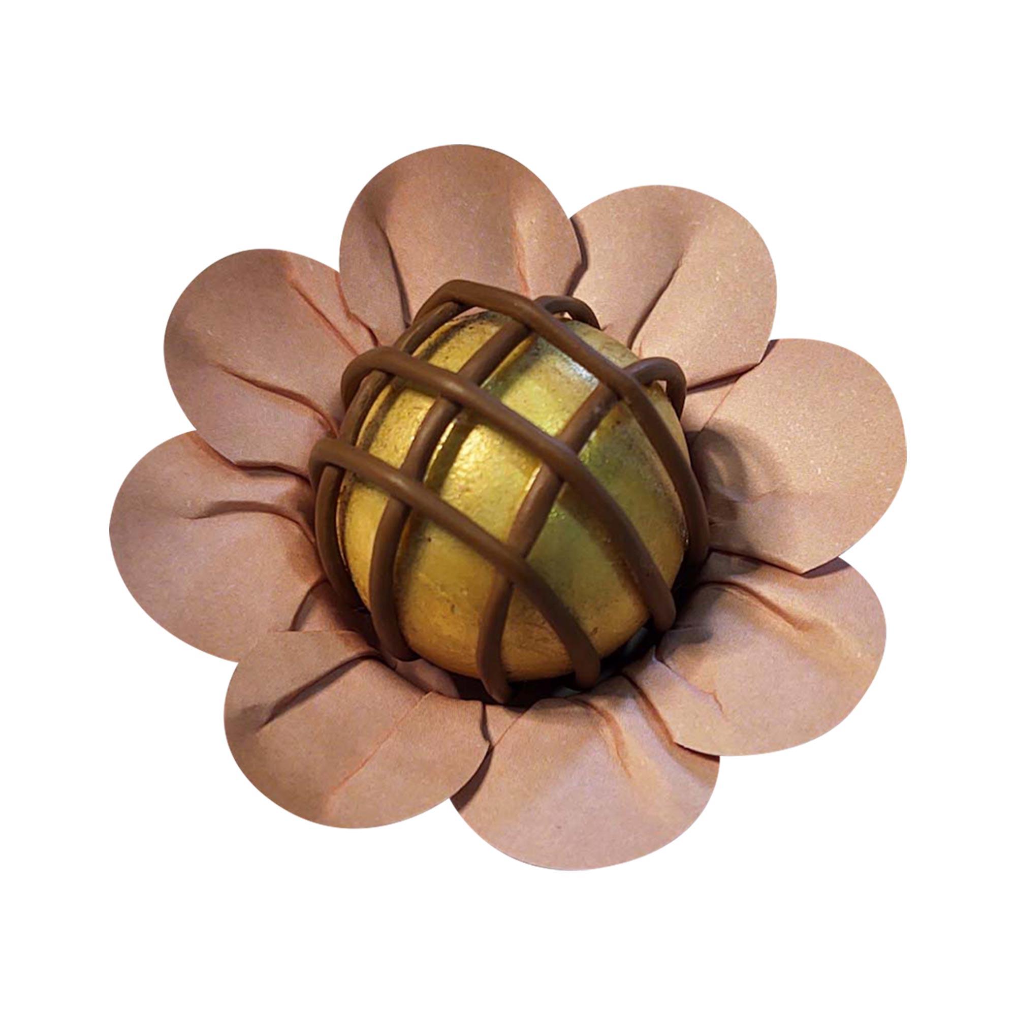 Forminha para Doces Margaridinha em Papel Especial Rose Gold Kit 50 Unidades