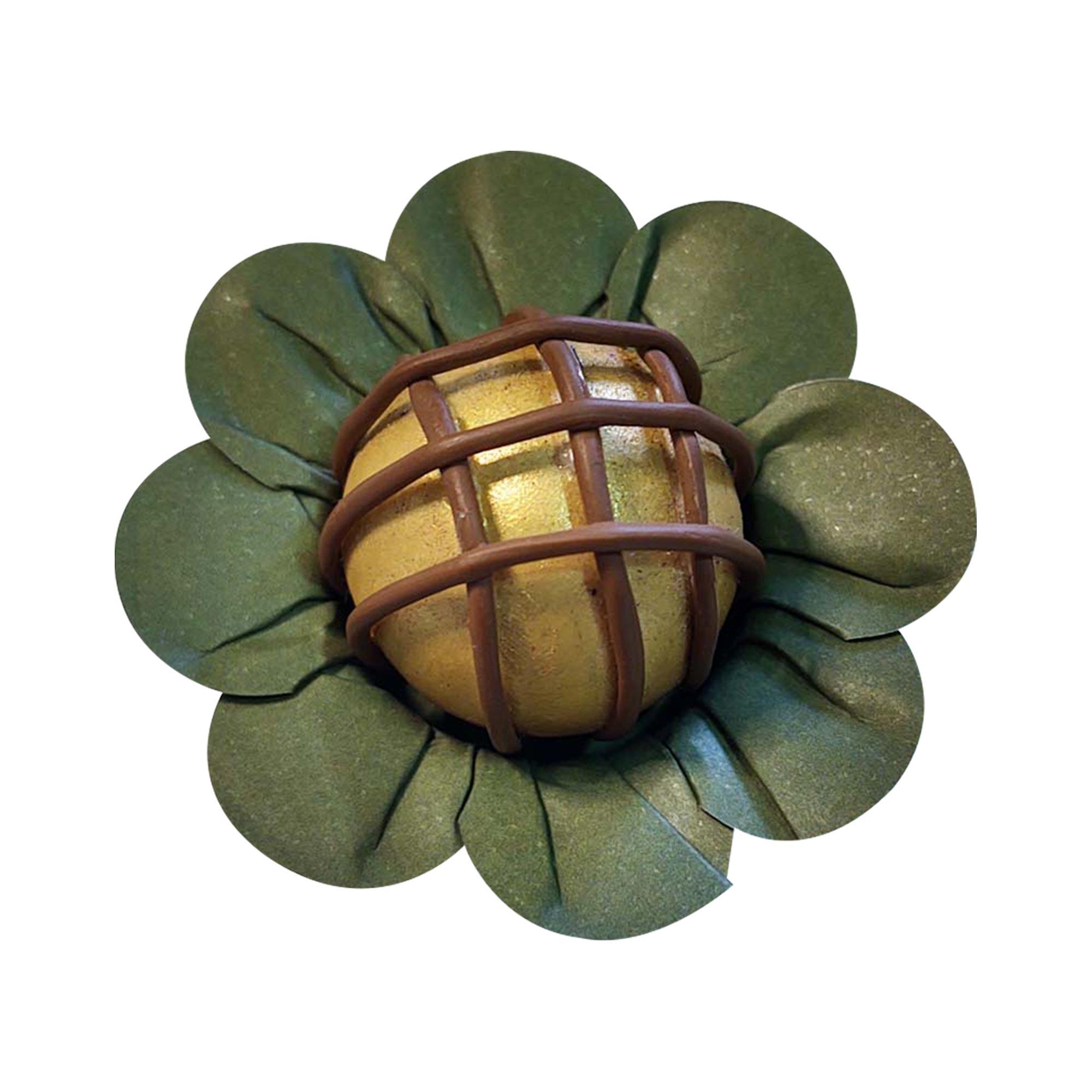 Forminha para Doces Margaridinha em Papel Especial Verde Oliva Kit 50 Unidades