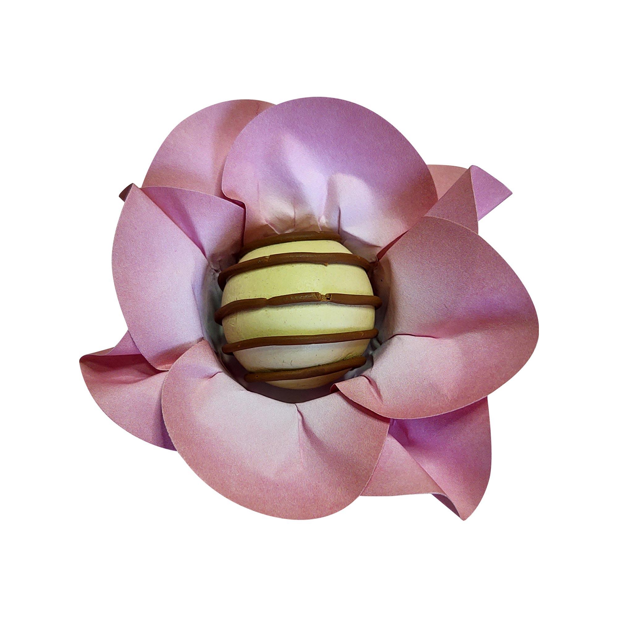 Forminha para Doces Mini Margarida em Papel Especial Rosa Chá Kit 40 Unidades