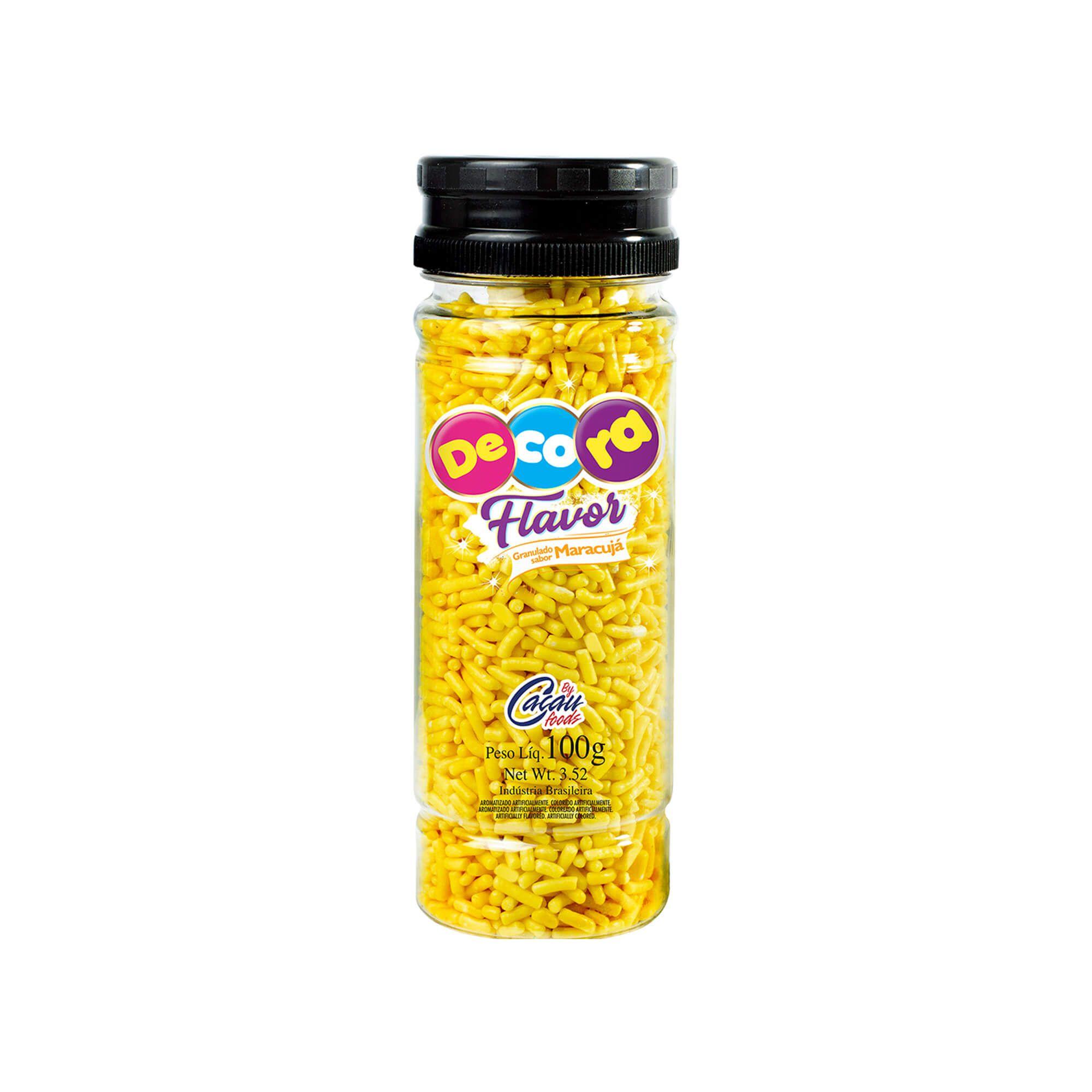 Granulado Decora Flavor Sabor Maracujá 100G