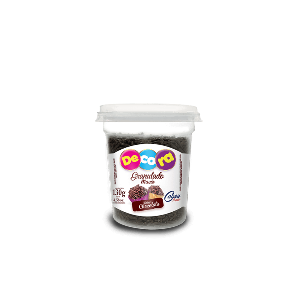 Granulado Macio Decora Sabor Chocolate 130G