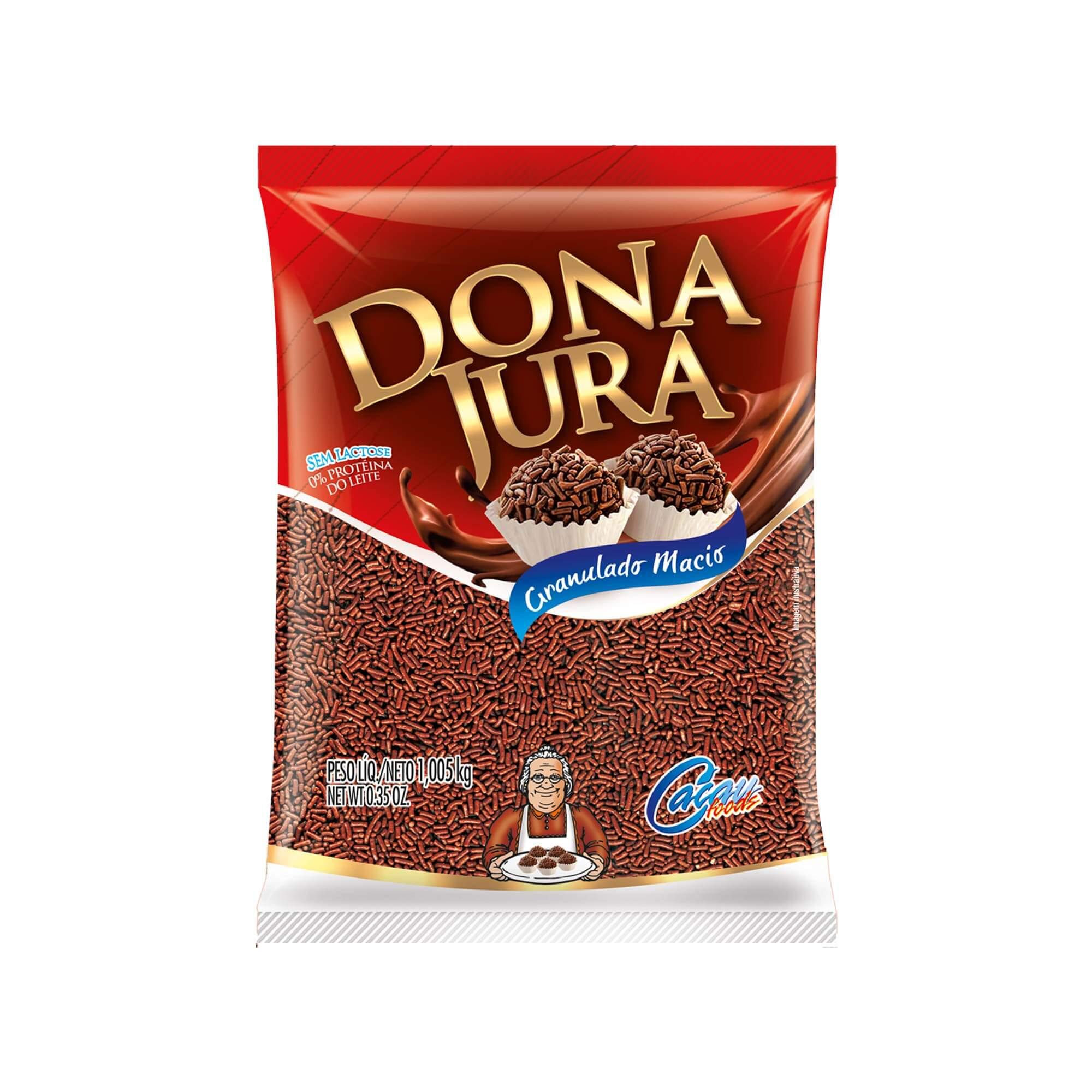 Granulado Macio Dona Jura Sabor Chocolate 1,005Kg