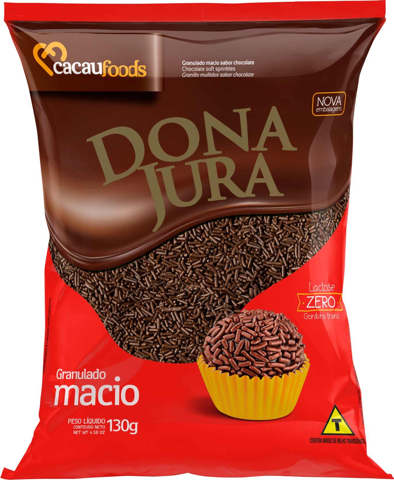 Granulado Macio Dona Jura Sabor Chocolate 130g