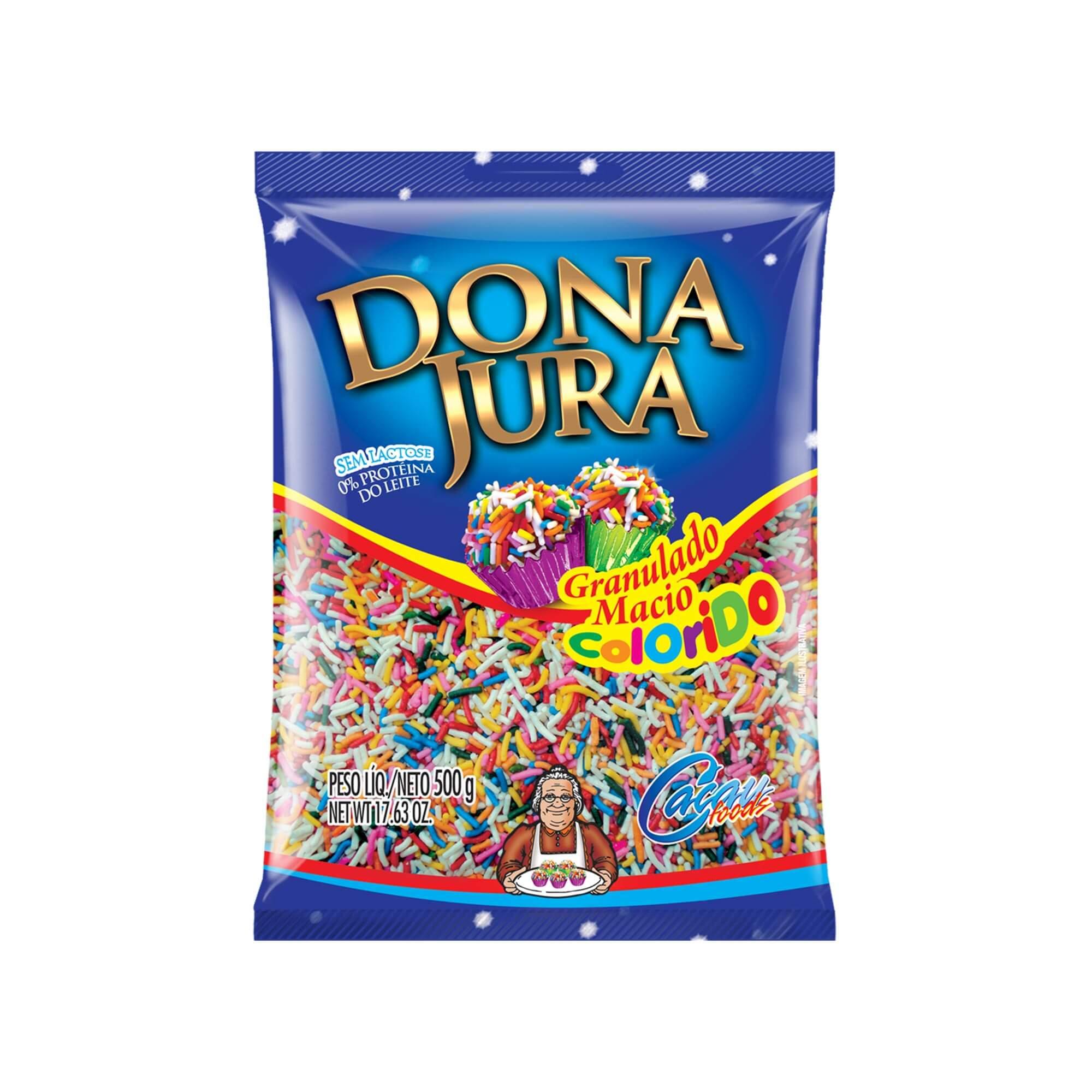 Granulado Macio Dona Jura Sabor Colorido 500G