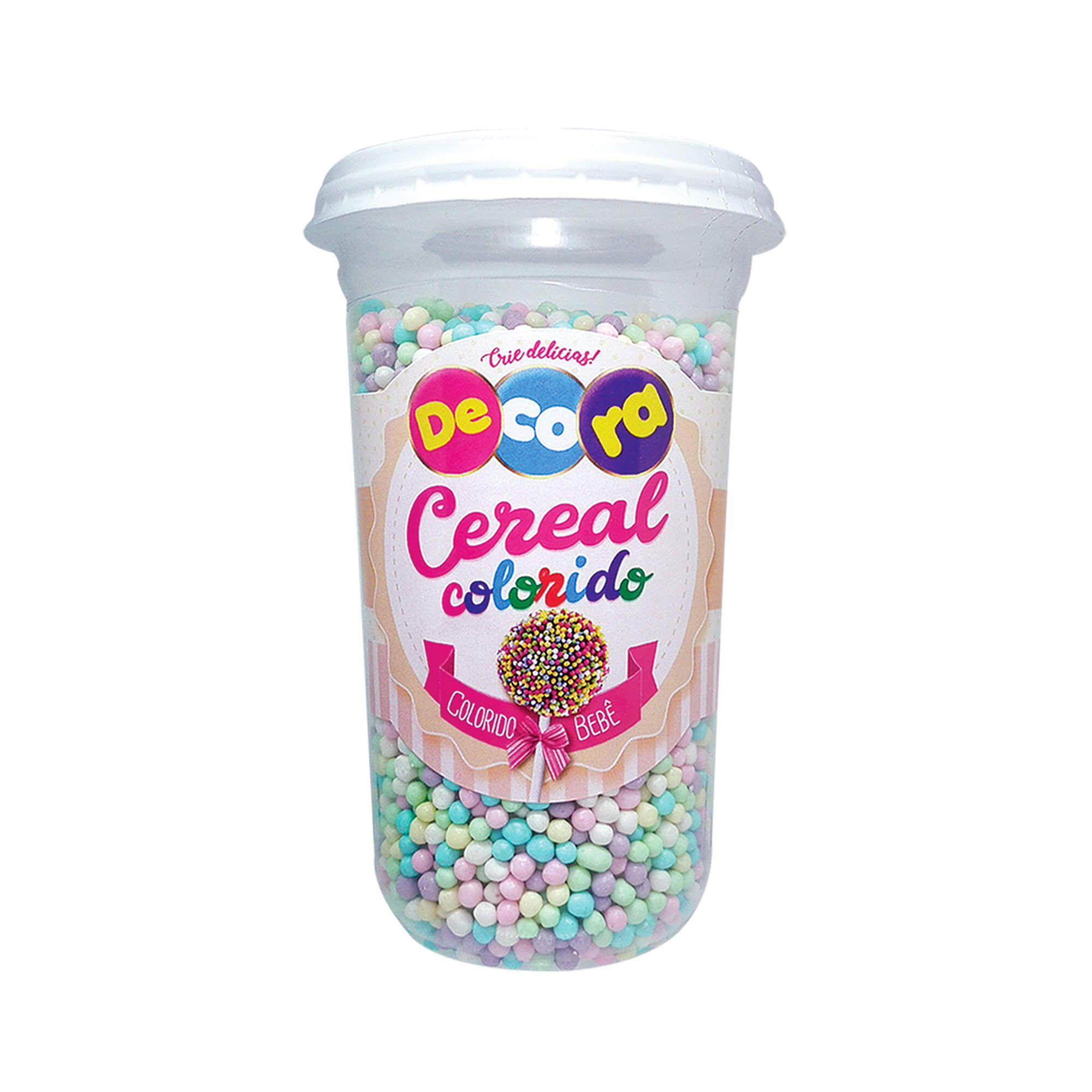 Micro Cereal Colorido Decora Colorido Bebê Copo 160G