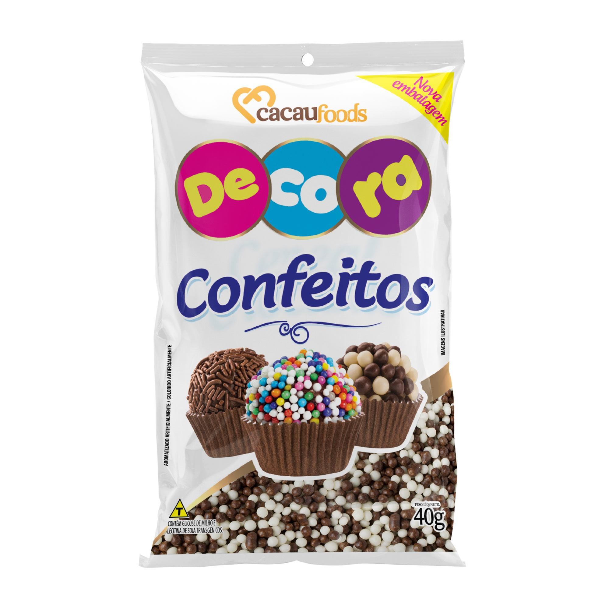 Micro Cereal Crocante Decora Preto e Branco 40g