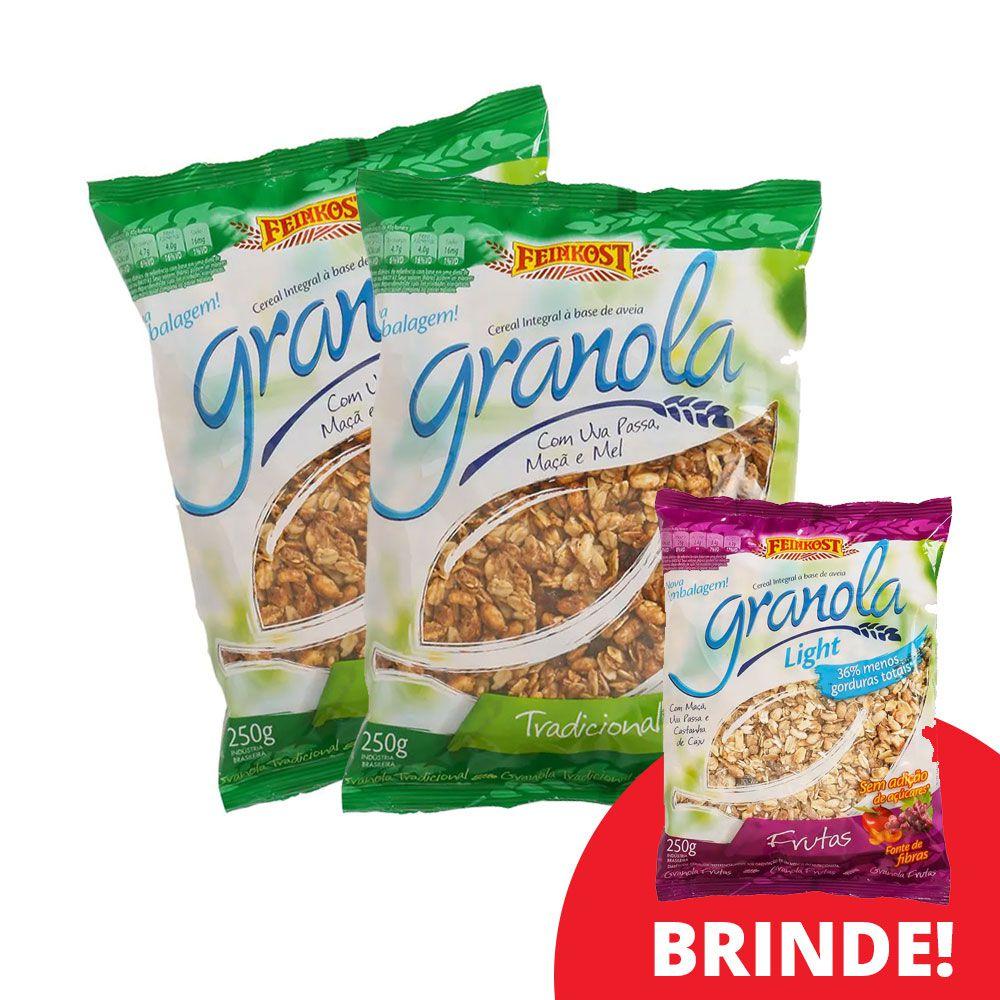 Compre 2 Granolas Feinkost Tradicional -  Ganhe uma Granola Light Frutas