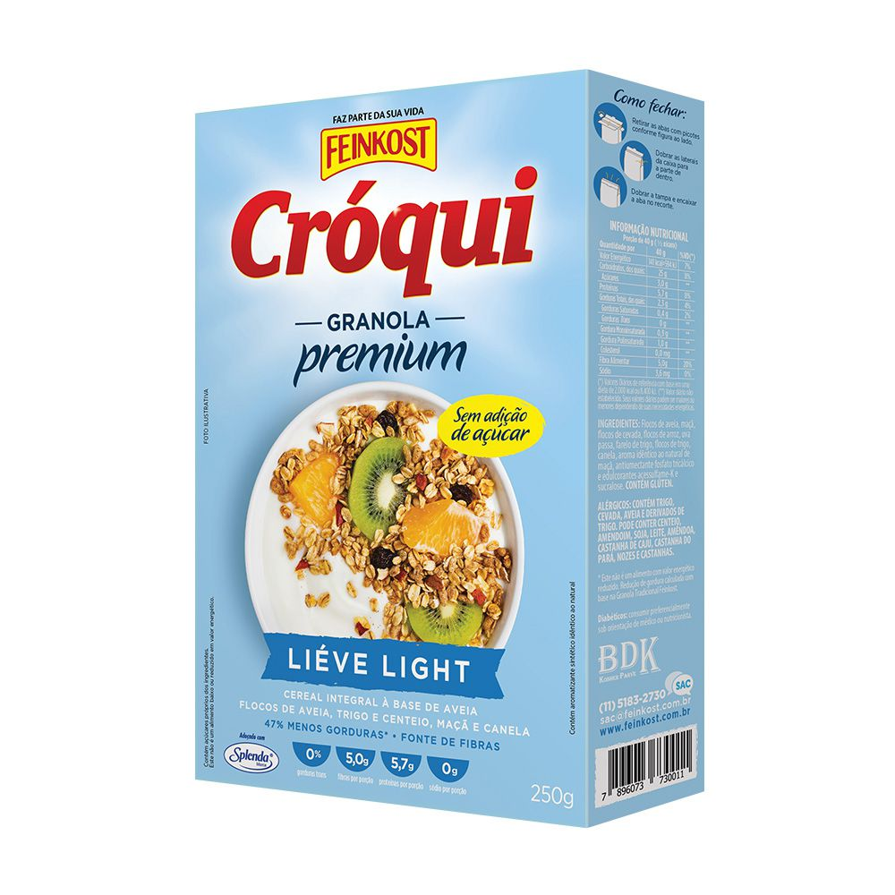 Cróqui Liéve Light 250g