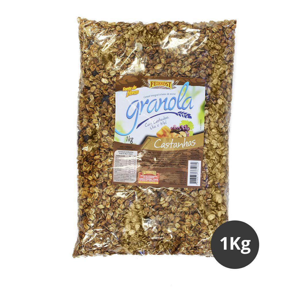 Pacote de Granola Feinkost Castanhas 1kg