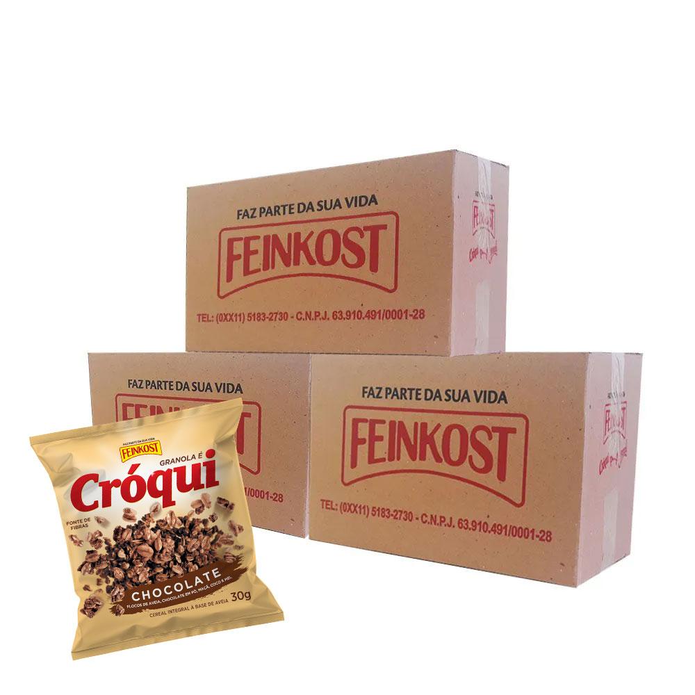 Granola Cróqui Chocolate 30g - 3 Caixas com 50 Sachês CADA