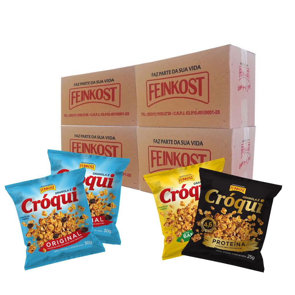 Granola Cróqui Misto 30g - 4 Caixas de 50 saches