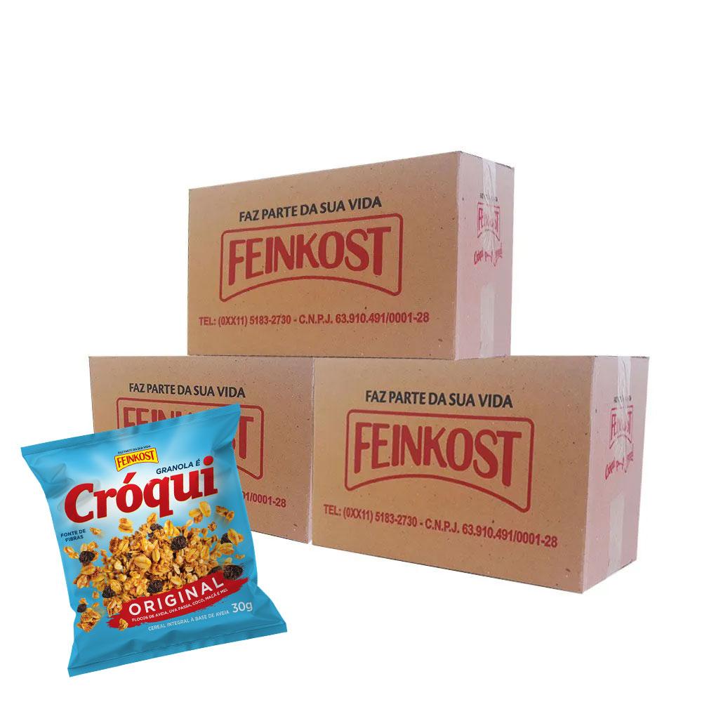 Granola Cróqui Original 30g - 3 Caixas com 50 Sachês CADA