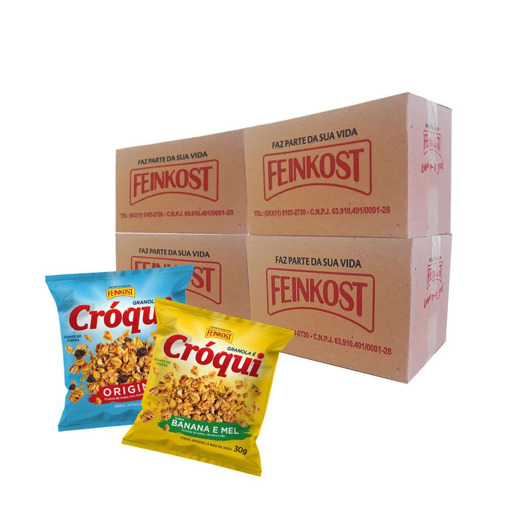 Granola Cróqui Original e Banana e Mel 30g - 4 Caixas de 50 saches CADA