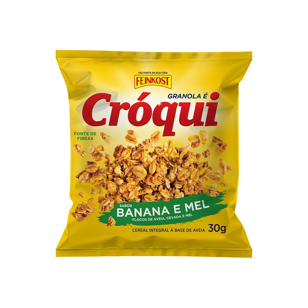 Granola Cróqui Personal Banana e Mel Sachê  - Pacote Individual