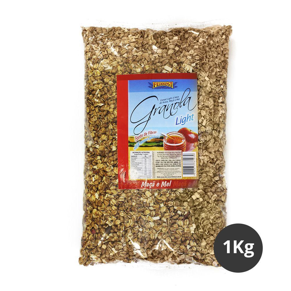 Pacote de Granola Feinkost Maçã e Mel Light 1Kg