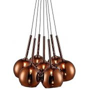 Pendente Cacho 7 Bolas Cobre Pd1221 New Line Rose Gold