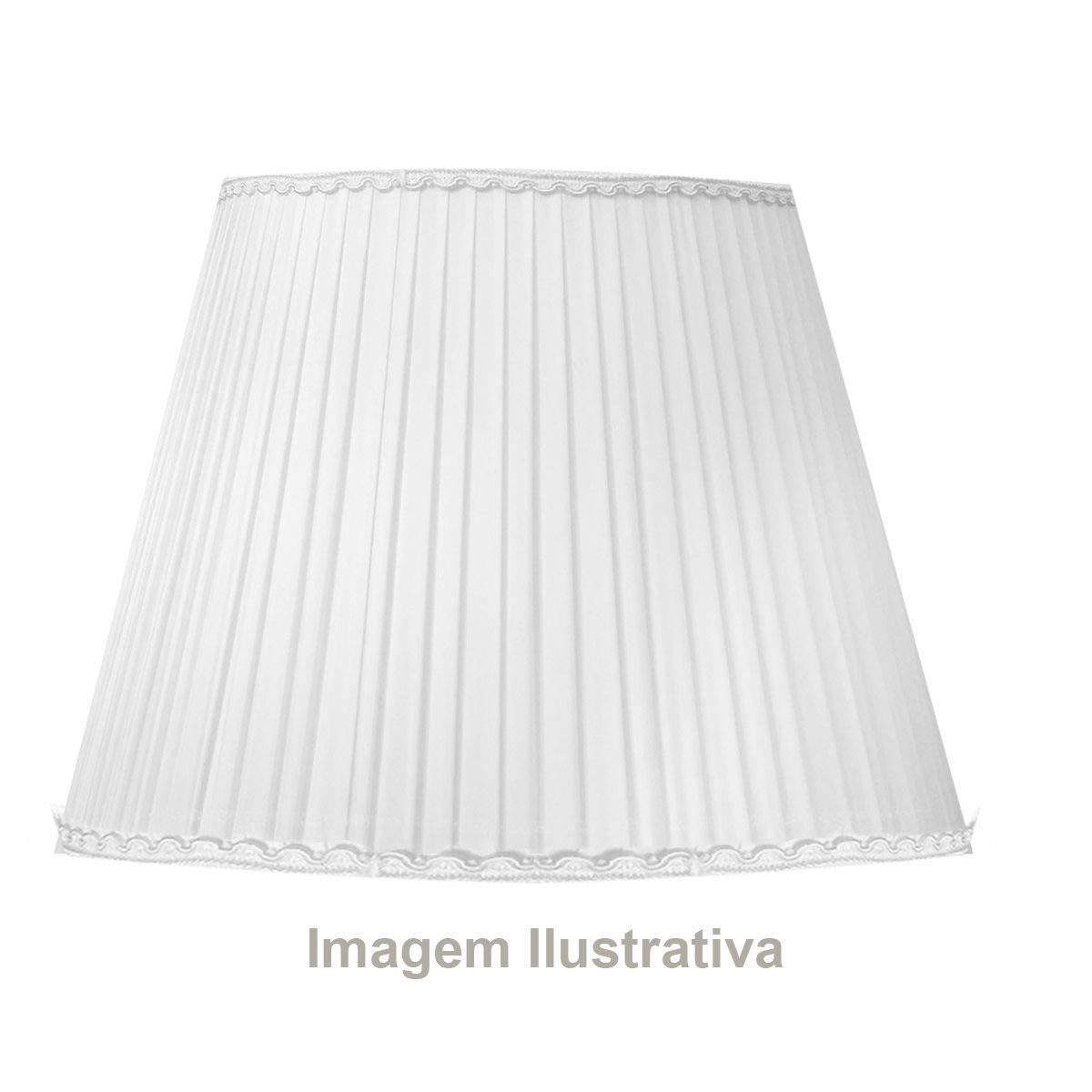 Abajur de Mesa em Cristal 512 47 cm com Cúpula Branca