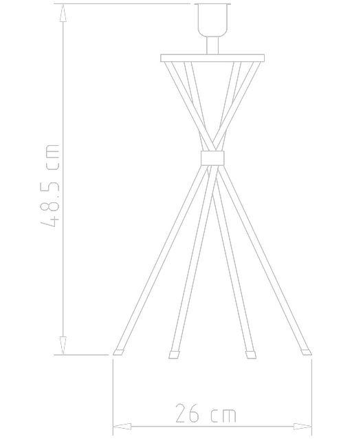Abajur Latão Quadripé Golden Art M728 66cm