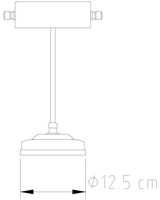 Abajur Luminária de Mesa Vintage Calha 15cm Golden Art M040
