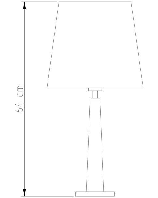 Abajur Rústico Madeira Pirâmide M662 Golden Art de 65cm de Altura