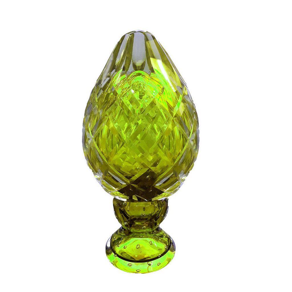Adorno Pinha de Cristal de Murano Lapidada 8800