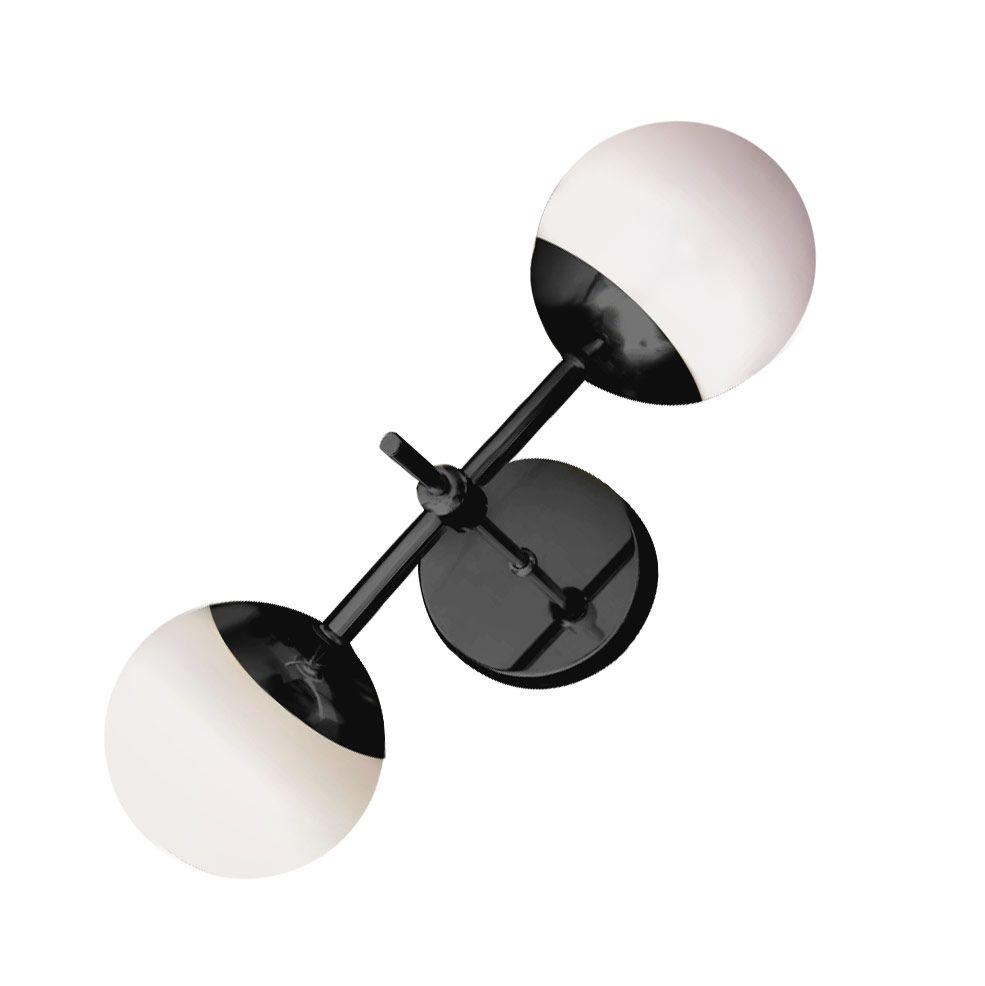 Arandela Jabuticaba Dupla Globo Vidro Branco Leitoso 5203