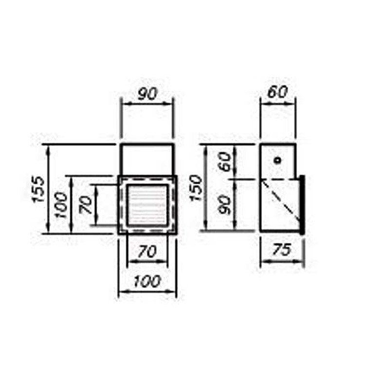 Balizador Led Keep 1W 60, 75 E 100 mm WA154