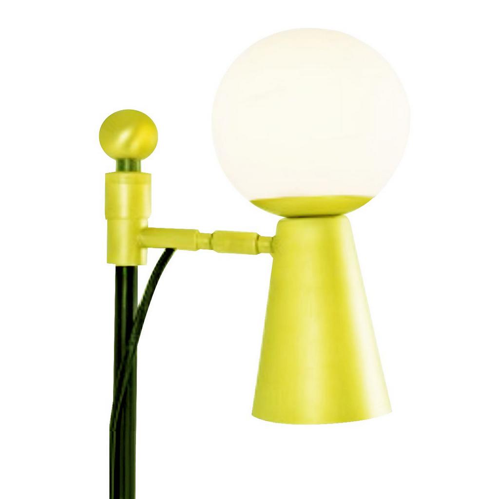 Coluna Latão Golden Art Pivô com Bola de Vidro Regulável C9900