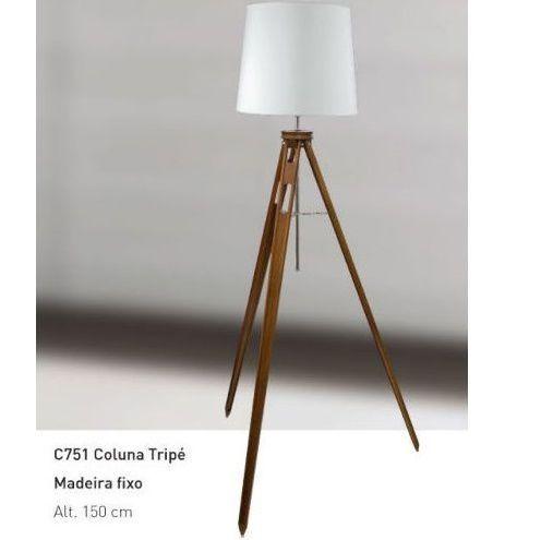 Coluna Madeira Tripé Compasso