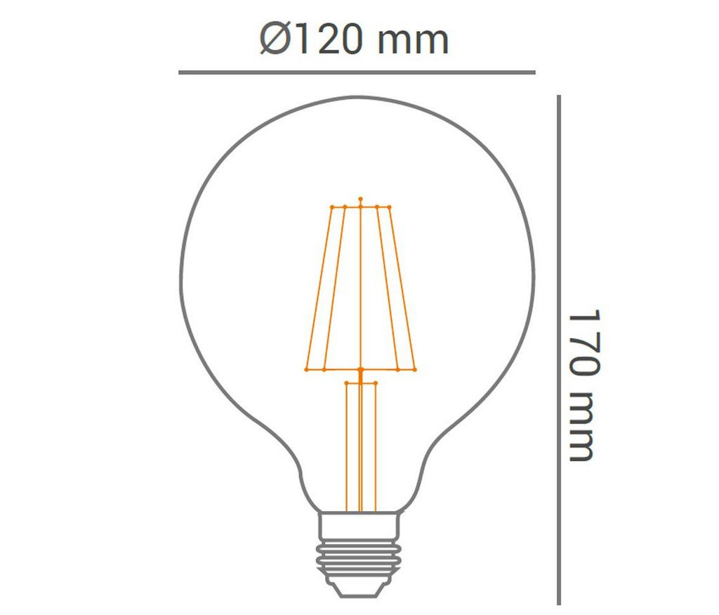 Lâmpada Balloon Retrô LED G125 4W