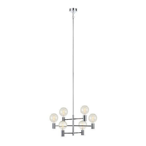 Luminária Lustre com 6 Braços Em Metal Premier 106418 e 106419