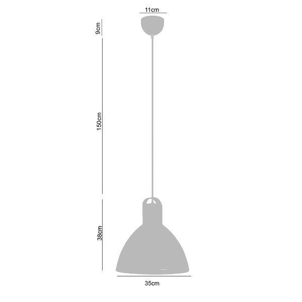 Luminária Pendente Eagle Em Metal Premier 106550 e 106551